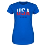 USA WWC Champions Junior Women's T-Shirt (Royal)