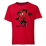 AC Milan Milanello Youth T-Shirt (Red)