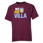 Aston Villa We Are Villa Youth T-Shirt (Maroon)