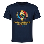 Copa America 2016 Full Color Emblem Youth T-Shirt (Navy)