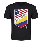 USA vs Colombia Copa America 2016 Youth Matchup T-Shirt (Black)