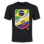 Brazil vs Ecuador Copa America 2016 Youth Matchup T-Shirt (Black)