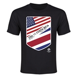 USA vs CRC Copa America 2016 Youth Matchup T-Shirt (Black)