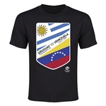 Uruguay vs Venezuela Copa America 2016 Youth Matchup T-Shirt (Black)