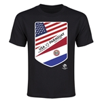 USA vs Paraguay Copa America 2016 Youth Matchup T-Shirt (Black)