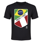 Brazil vs Peru Copa America 2016 Youth Matchup T-Shirt (Black)