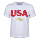 CONCACAF Gold Cup 2015 USA Youth Big Logo T-Shirt (White)