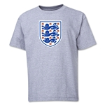 England Core Youth T-Shirt (Gray)
