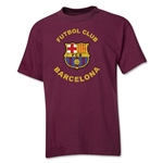 Barcelona Futbol Club Distressed Youth T-Shirt (Maroon)