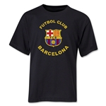 Barcelona Futbol Club Distressed Youth T-Shirt (Black)