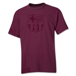 Barcelona Distressed Youth T-Shirt (Maroon)