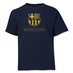 Barcelona Mes Que Un Club Youth T-Shirt (Navy)