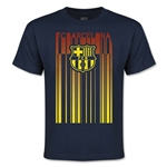 Barcelona Linear Graphic Youth T-Shirt (Navy)