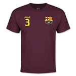 Barcelona Pique Youth T-Shirt (Maroon)
