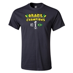 Brazil FIFA Confederations Cup 2013 Champions Youth T-Shirt (Black)