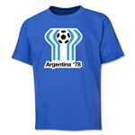 1978 FIFA World Cup Emblem Youth T-Shirt (Royal)