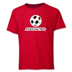 1990 FIFA World Cup Emblem Youth T-Shirt (Red)