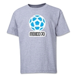 1970 FIFA World Cup Emblem Youth T-Shirt (Grey)