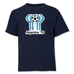 1978 FIFA World Cup Emblem Youth T-Shirt (Navy)