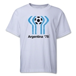 1978 FIFA World Cup Emblem Youth T-Shirt (White)