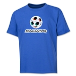 1990 FIFA World Cup Emblem Youth T-Shirt (Royal)