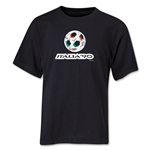 1990 FIFA World Cup Emblem Youth T-Shirt (Black)