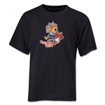 1966 FIFA World Cup Willie Mascot Logo Youth T-Shirt (Black)