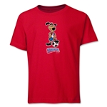 1994 FIFA World Cup Striker Mascot Logo Youth T-Shirt (Red)