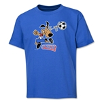 1994 FIFA World Cup Striker Mascot Logo Youth T-Shirt (Royal)