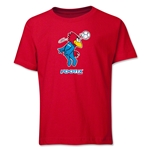1998 FIFA World Cup Footix Mascot Logo Youth T-Shirt (Red)