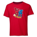 2002 FIFA World Cup Kaz & Nik Mascot Logo Youth T-Shirt (Red)