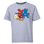 2002 FIFA World Cup Kaz & Nik Mascot Logo Youth T-Shirt (Grey)