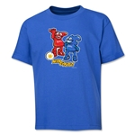 2002 FIFA World Cup Kaz & Nik Mascot Logo Youth T-Shirt (Royal)