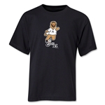 2006 FIFA World Cup Goleo VI Mascot Logo Youth T-Shirt (Black)