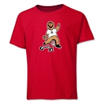 2006 FIFA World Cup Goleo VI Mascot Logo Youth T-Shirt (Red)