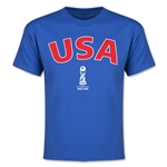 USA FIFA U-17 World Cup Chile 2015 Youth T-Shirt (Royal)