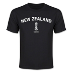 New Zealand FIFA U-17 World Cup Chile 2015 Youth T-Shirt (Black)