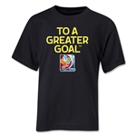 FIFA Women's World Cup Canada 2015(TM) Youth Event Slogan Youth T-Shirt (Black)