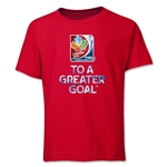 FIFA Women's World Cup Canada 2015(TM) Youth Event Slogan Youth T-Shirt (Red)