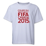 FIFA Women's World Cup Canada 2015(TM) French Logotype Youth T-Shirt (White)