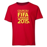 FIFA Women's World Cup Canada 2015(TM) French Logotype Youth T-Shirt (Red)