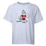 FIFA Women's World Cup Canada 2015(TM) Mascot Pose 1 Youth T-Shirt (White)