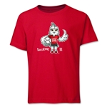 FIFA Women's World Cup Canada 2015(TM) Mascot Pose 1 Youth T-Shirt (Red)