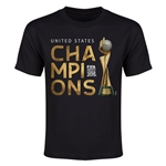 USA FIFA Women's World Cup Champions Youth T-Shirt (Black)