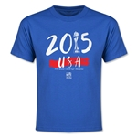 USA FIFA Women's World Cup Champions Youth T-Shirt (Royal)