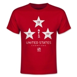 USA FIFA Women's World Cup Champions Youth T-Shirt (Red)