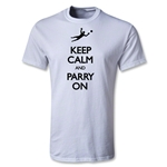 Keep Calm and Parry On Youth T-Shirt (White)
