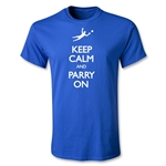 Keep Calm and Parry On Youth T-Shirt (Royal)