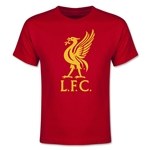 Liverpool Halftone Youth T-Shirt (Red)