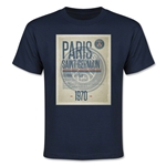 Paris Saint-Germain Poster Youth T-Shirt (Navy)